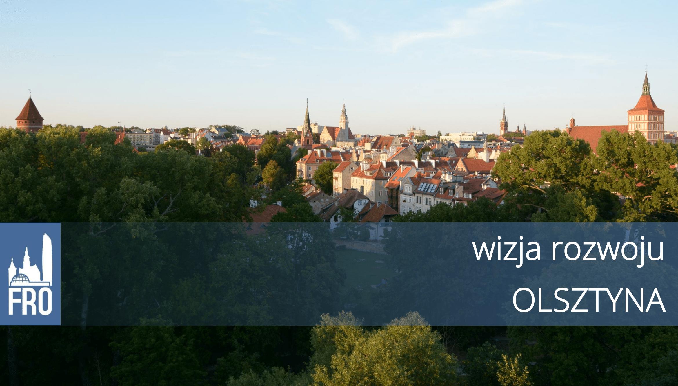 Wizja rozwoju Olsztyna grafika